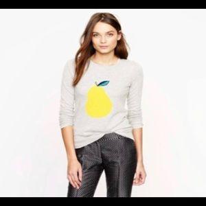 JCrew Pear Sweater
